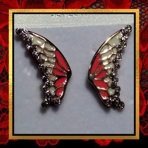 Pink Butterfly Wing Earrings   #JWL-778